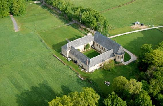 Vue aérienne La Cassine patrimoine et musées