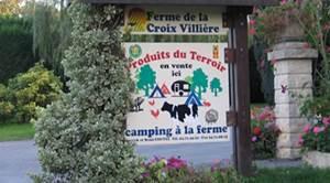 Façade extérieur du camping de la ferme de la Croix-villière